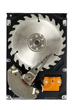 Hard Disk Drive Saw Blade. With paths Stock Photography