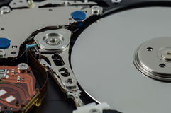 Hard disk drive. Storage devices Stock Images