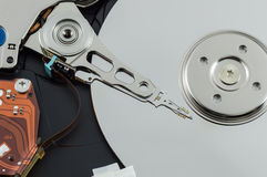 Hard disk drive. Storage devices Stock Photo