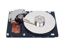 Hard disk drive with storage surface and head Royalty Free Stock Images