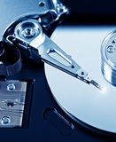Hard Disk Drive. Toned Photo of the Opened Hard Disk Drive Royalty Free Stock Photos