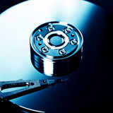 Hard Disk Drive. Toned Photo of the Opened Hard Disk Drive Royalty Free Stock Photography