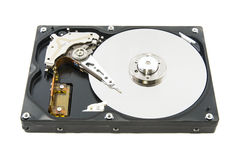Hard disk drive on white background Stock Images