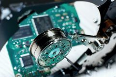 Hard Disk Driver - hardware electronic control. Royalty Free Stock Photos
