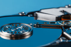 Hard disk driver open closeup view Royalty Free Stock Photo