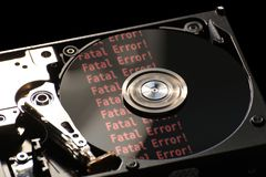 Hard Disk With Error Royalty Free Stock Photography