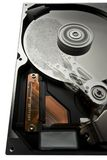Hard disk and fingerprint Royalty Free Stock Images
