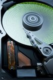 Hard disk with green data Royalty Free Stock Image
