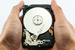 Hard disk in hands Stock Photos