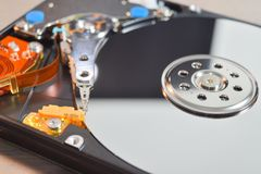 Hard disk inside Royalty Free Stock Images