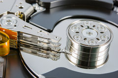 Hard disk inside Royalty Free Stock Photos