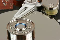 Hard disk interior Stock Photo