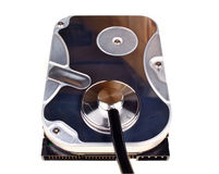 Hard disk isolated Royalty Free Stock Photo