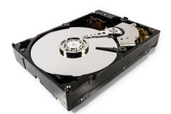 Hard disk isolated on a white background Royalty Free Stock Photo