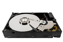 Hard disk isolated on a white background Royalty Free Stock Image