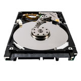 Hard disk isolated on a white background Stock Image