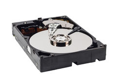 Hard disk isolated on a white background Royalty Free Stock Images