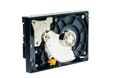 Hard disk for computer on isolated white background Royalty Free Stock Images