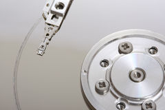 Hard Disk Malfunction II. A close up picture of a damaged hard disk Royalty Free Stock Images