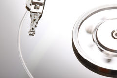 Hard Disk Malfunction IV. A close up picture of a damaged hard disk Stock Photography