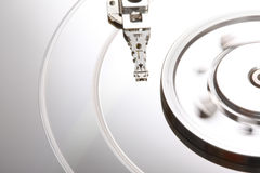 Hard Disk Malfunction V. A close up picture of a damaged hard disk Stock Images