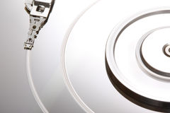 Hard Disk Malfunction VI. A close up picture of a damaged hard disk Royalty Free Stock Photo