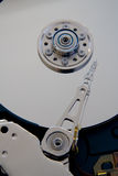 Hard Disk memory. Close up of a fixed disk drive (hard disk Royalty Free Stock Photos