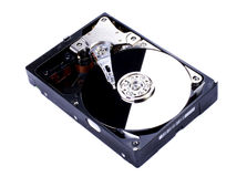 Hard disk with mirror Royalty Free Stock Photo