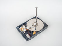 Hard disk with the nail Stock Photo