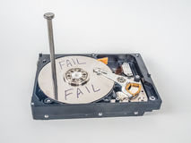 Hard disk with the nail Royalty Free Stock Photo
