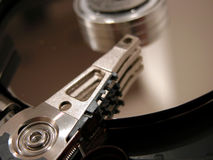 Hard disk opened Stock Images