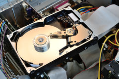 Hard disk opened Stock Photos