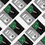 Hard disk pattern. HDD pattern Royalty Free Stock Photography
