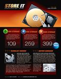 Hard Disk promotional brochure Royalty Free Stock Photography