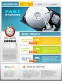 Hard Disk Promotional Brochure Stock Images