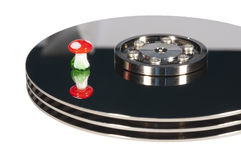Hard disk recovery Royalty Free Stock Photo