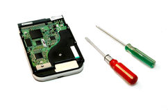 Hard disk repair Stock Images