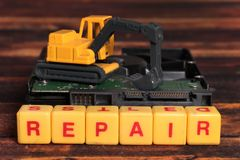 Hard disk repair royalty free stock photography