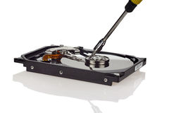 Hard disk repair Royalty Free Stock Photography