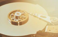 hard disk's internal mechanism hardware stock images