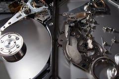 Hard disk scrap electronics Royalty Free Stock Image