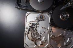 Hard disk scrap electronics Royalty Free Stock Photography
