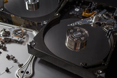 Hard disk scrap electronics Royalty Free Stock Photos