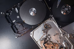Hard disk scrap electronics Royalty Free Stock Photo
