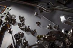 Hard disk scrap electronics Stock Photo