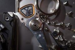 Hard disk scrap electronics Stock Images