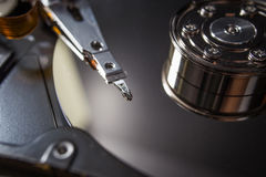 Hard disk scrap electronics Royalty Free Stock Images