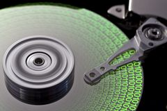 Hard disk and symbolic data Stock Images