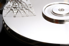 Hard Disk Technology II. A close up picture of a damaged hard disk Stock Image