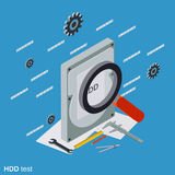 Hard disk test vector illustration Royalty Free Stock Photography